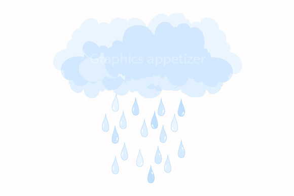 Raindrops Clip Art ~ Illustrations on Creative Market
