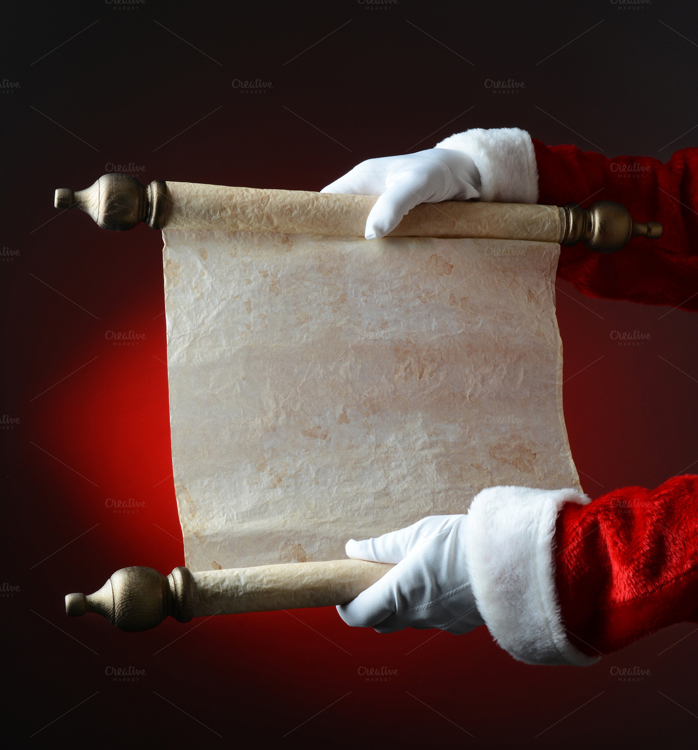 santa with naughty and nice scroll