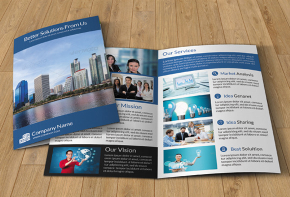 Bi-fold brochure for business