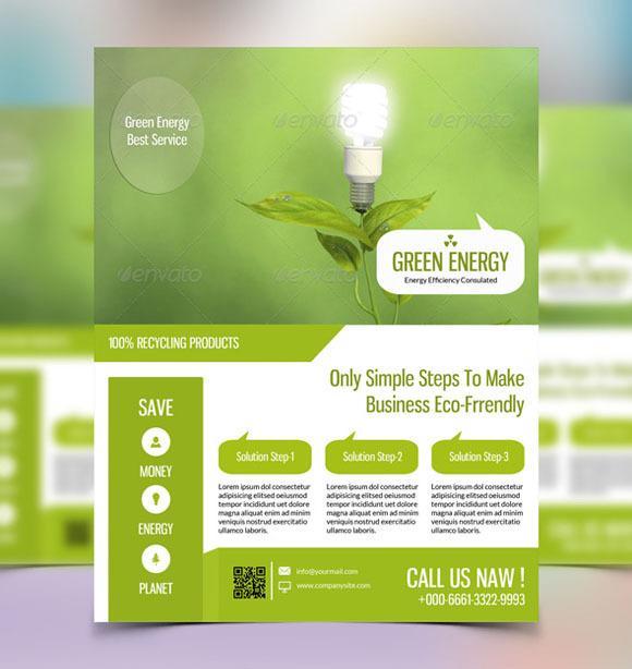 Green Energy Flyer Template Sistec