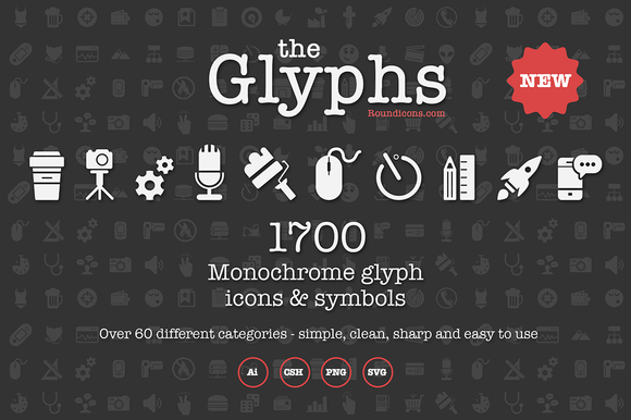 The Glyphs 1700 icons and symbols - Icons - 1