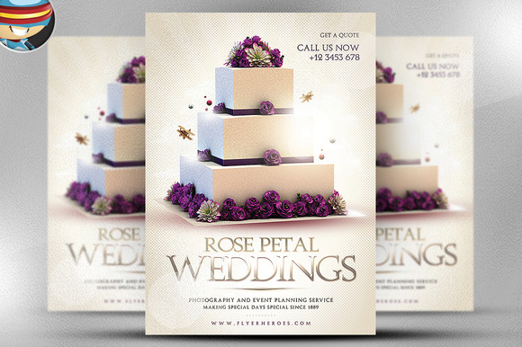 Wedding PSD Flyer Template ~ Flyer Templates on Creative Market