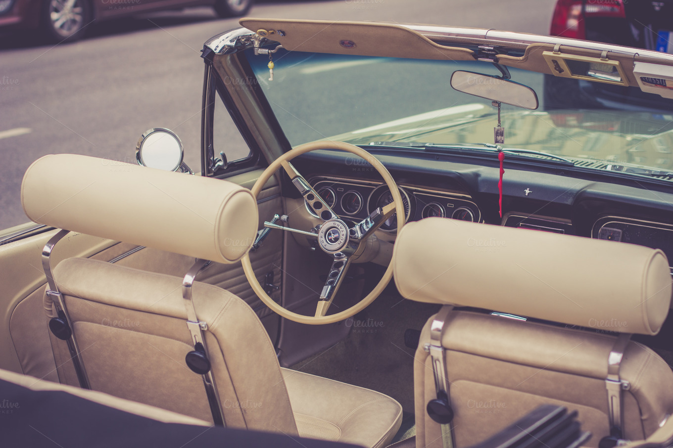 classic beige car interior transportation photos on creative market