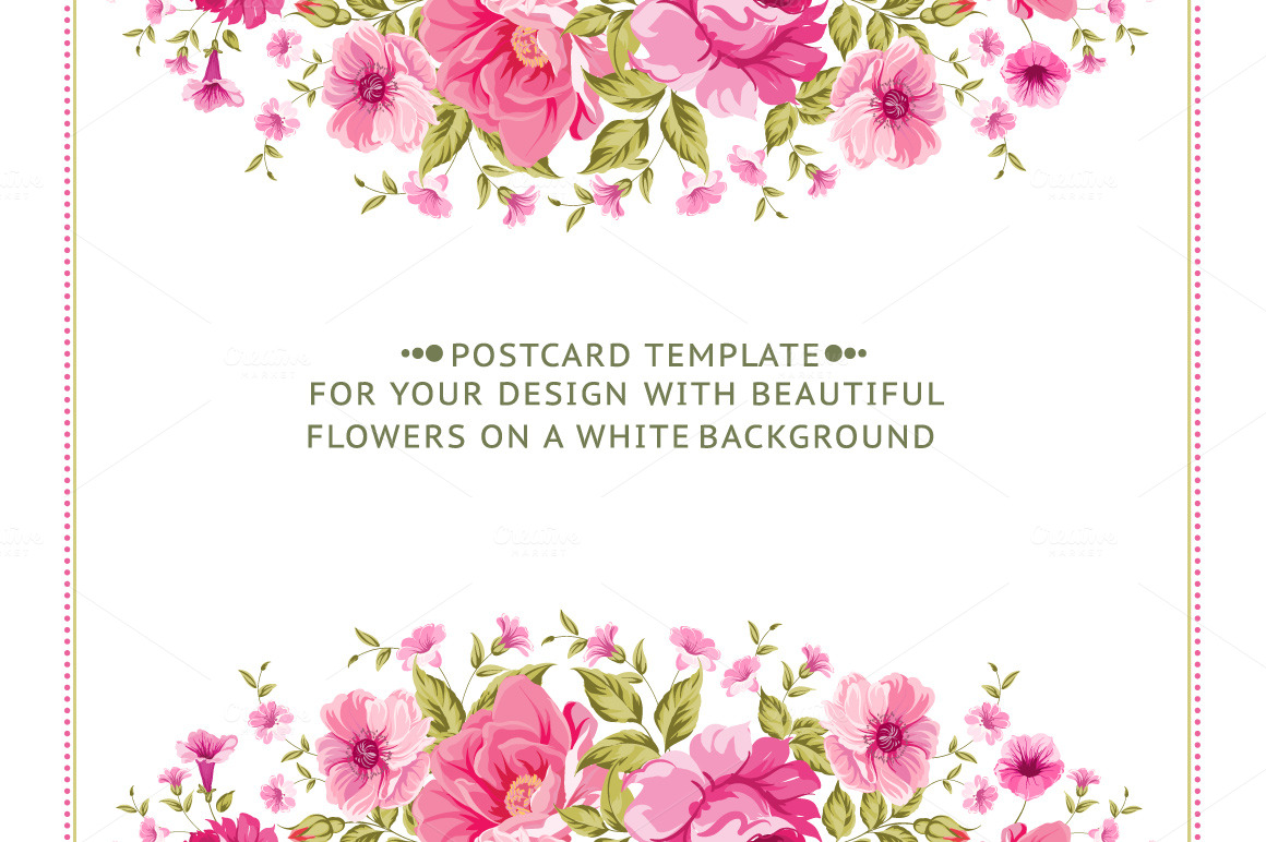 Awesome Floral Cards Set ~ Card Templates on Creative Market
