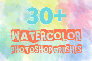 30+ Watercolor Photoshop Brushes