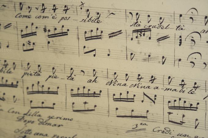 Handwritten Music Handwritten Sheet Music Arts