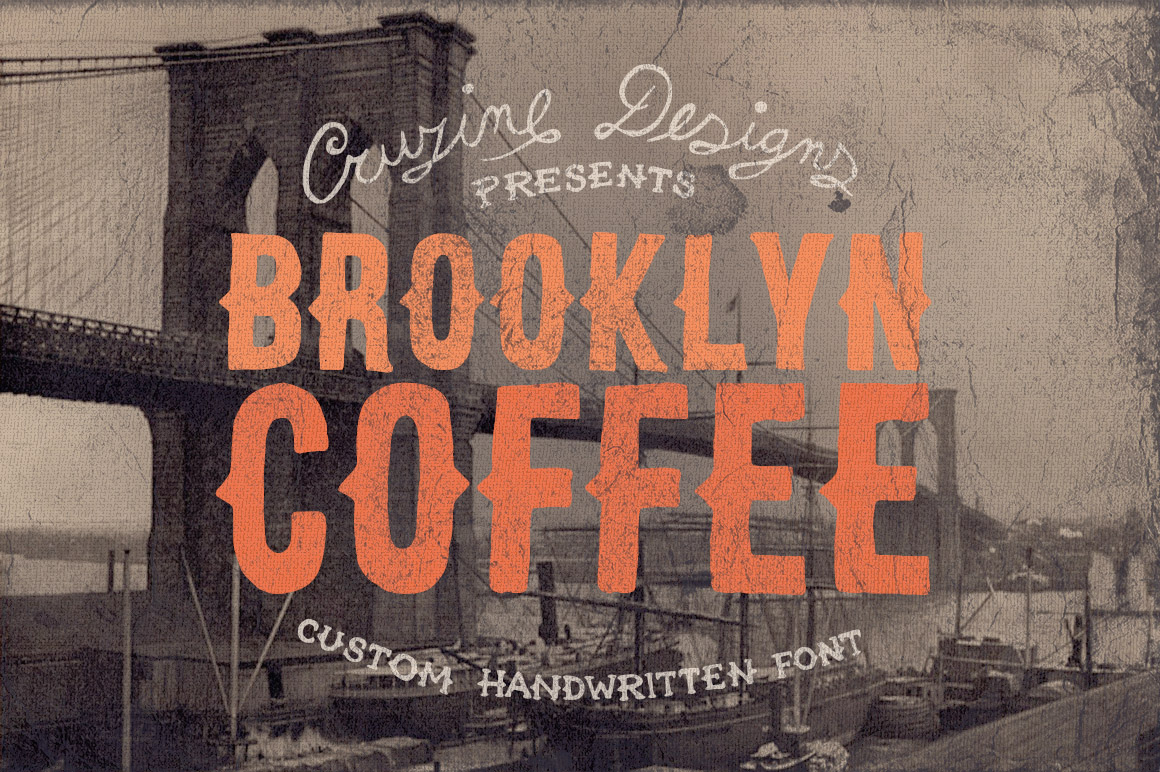 Brooklyn Coffee Custom Font Download