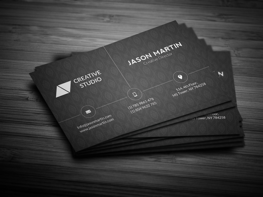 corporate dark business card business card templates on