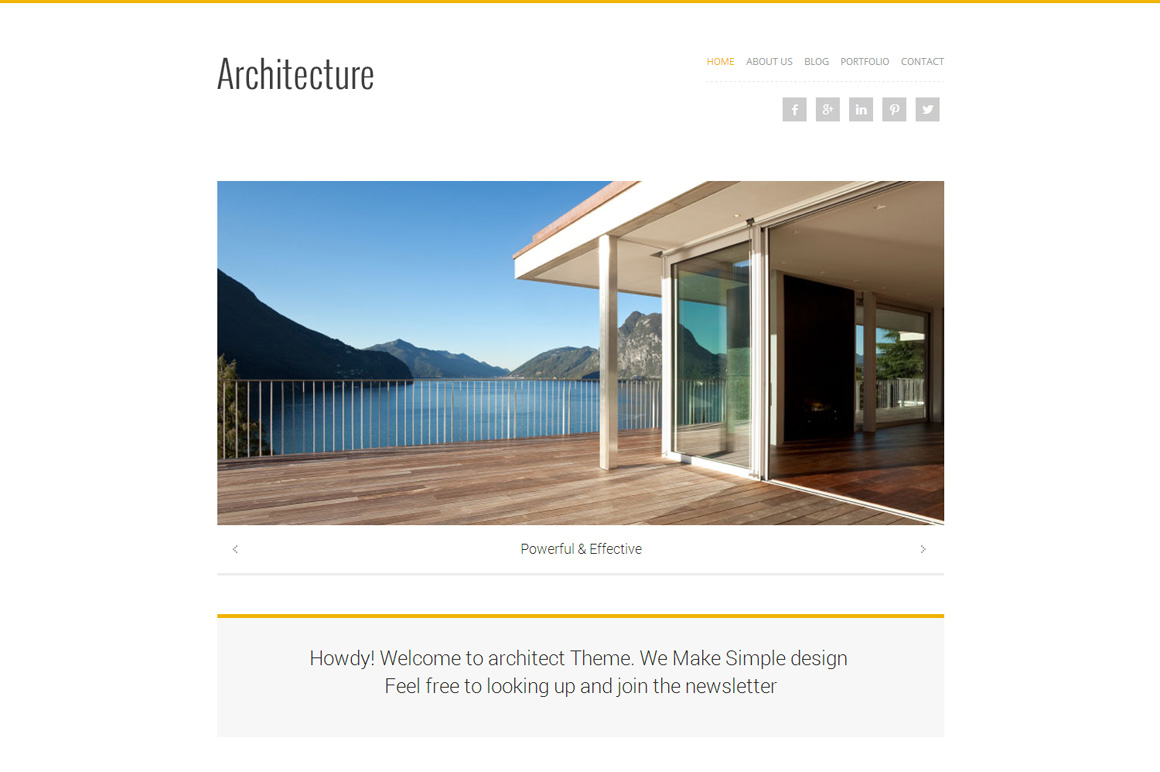 Architecture wordpress theme wordpress portfolio themes for Architecture wordpress