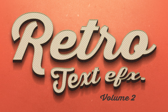 Vintage Text Effects Vol.2 - Add-Ons - 1