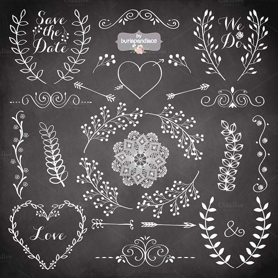 Hand Drawn Laurel Wreath