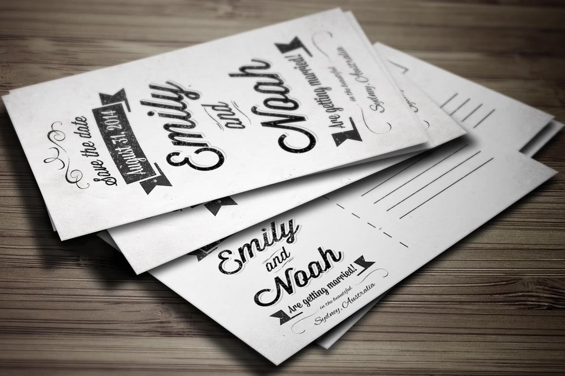 save the date invitation postcard invitation templates on creative market. Black Bedroom Furniture Sets. Home Design Ideas