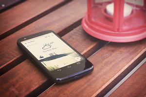 Android mobile HD mockups