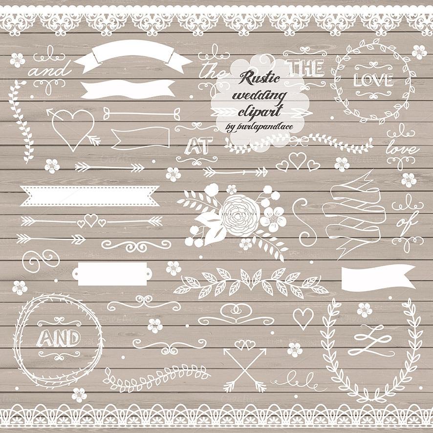 Vector Rustic Wedding Illustrations On Creative Market