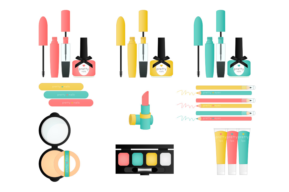 Pretty Things Makeup Clip Art
