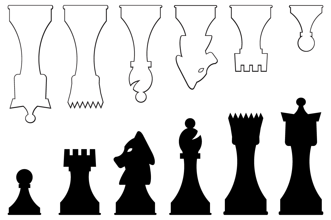 Vector Chess Pieces ~ Objects on Creative Market