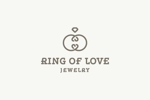 ring of love   jewelry logo logo templates on creative