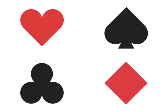 Playing Cards Outline Geometric Playing Card Icons