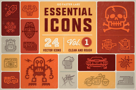 Essential Icons (Vol.1) + BONUS - Icons