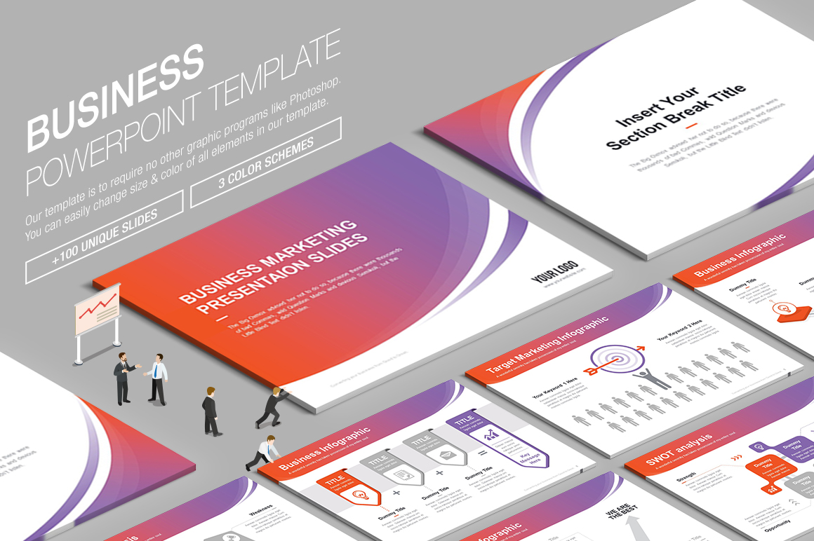 Business powerpoint template 007 by lunik20 graphicriver more awesome templates toneelgroepblik Image collections