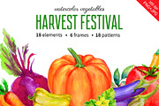 Watercolor Vegetables-Graphicriver中文最全的素材分享平台