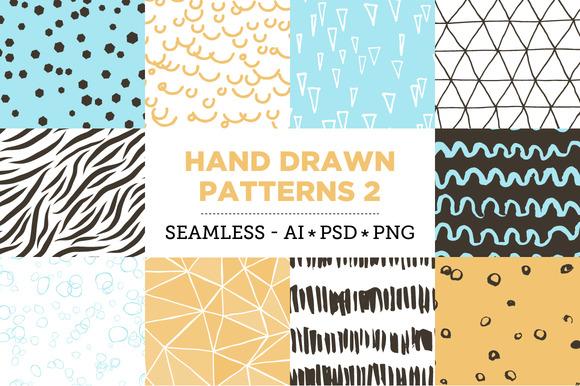 10 Seamless Hand Drawn Patterns v.2 - Patterns