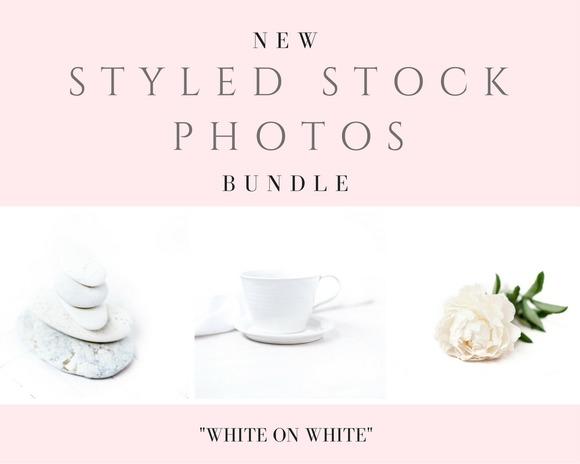 Styled Stock Photos White On White