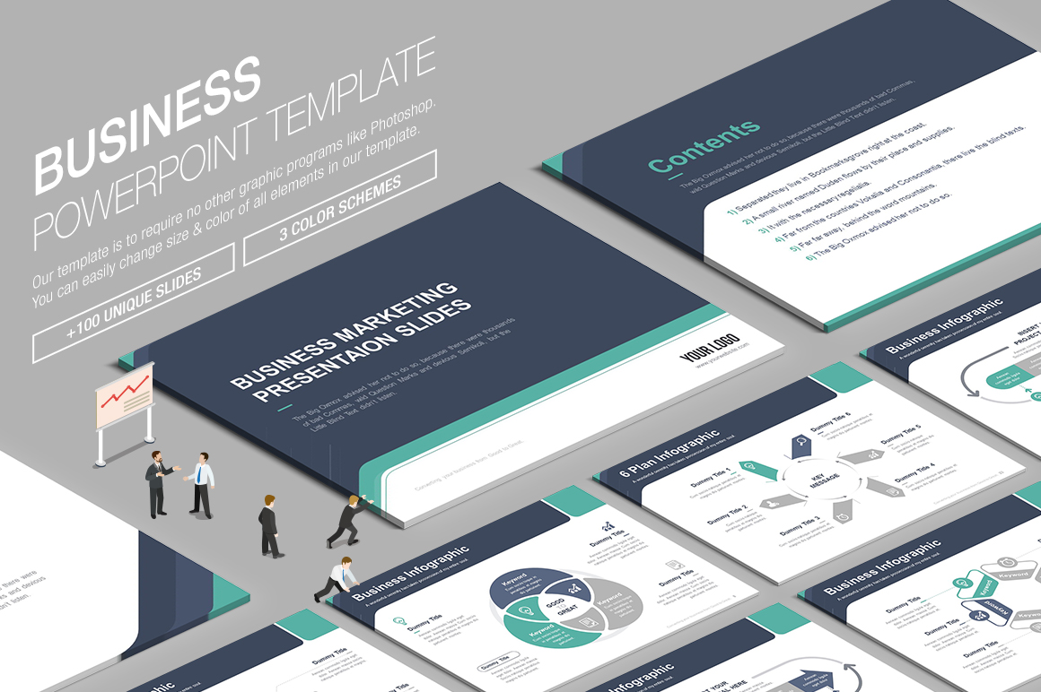 Business powerpoint template 003 by lunik20 graphicriver more awesome templates toneelgroepblik