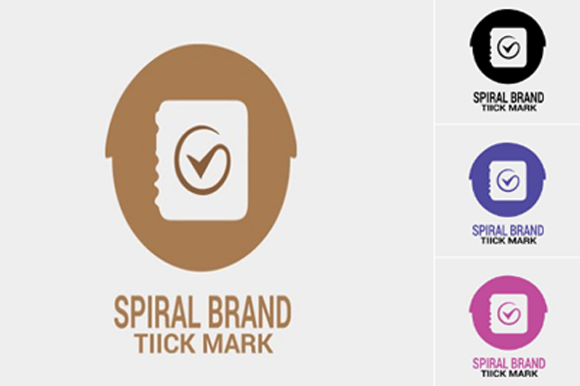 Spiral Tick Mark Logo