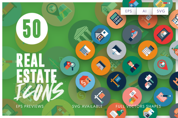 50 Real Estate Icons - Icons
