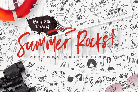 Summer Rocks! Vectors Collection - Illustrations