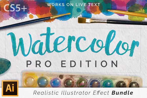 Watercolor Pro Effects Ai CS5+