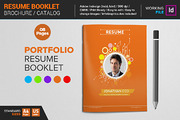 Resume Booklet Template-Graphicriver中文最全的素材分享平台