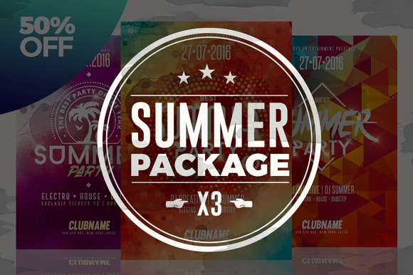 50%OFF - Summer Flyer Bundle v01 - Flyers