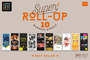Super 2 - Roll-Up Banners B-Graphicriver中文最全的素材分享平台