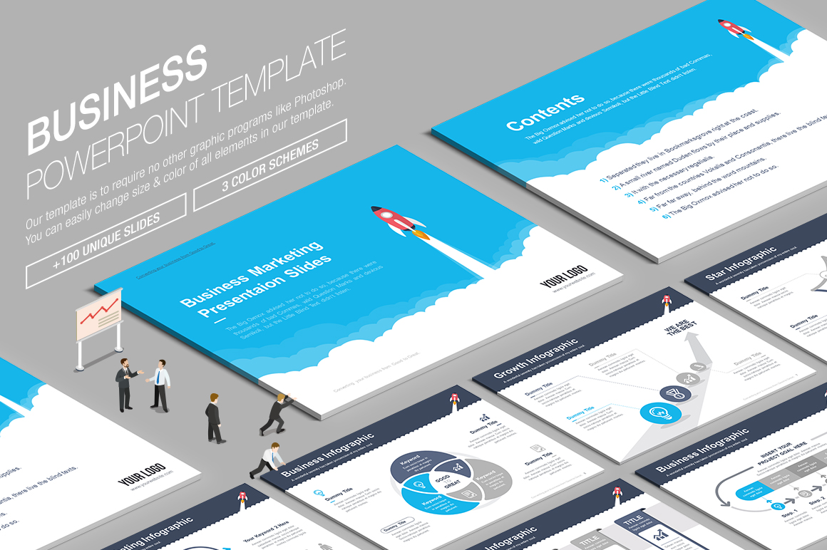 10 Awesome Powerpoint Templates Bundle