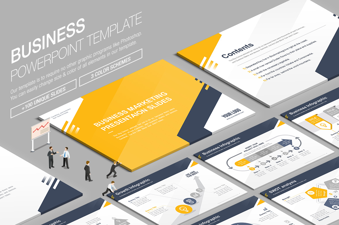 Business powerpoint template 007 by lunik20 graphicriver more awesome templates toneelgroepblik
