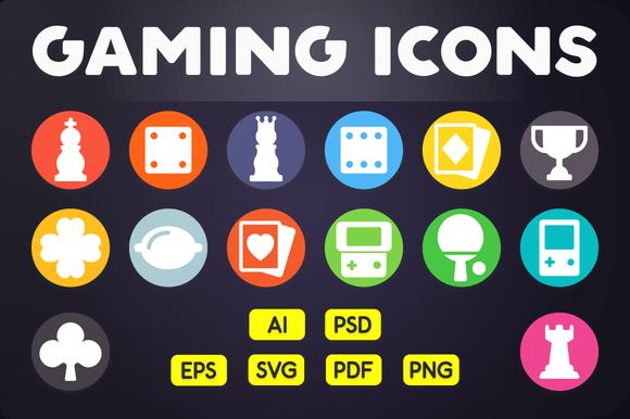 Flat Icon Game Icons Vol.1