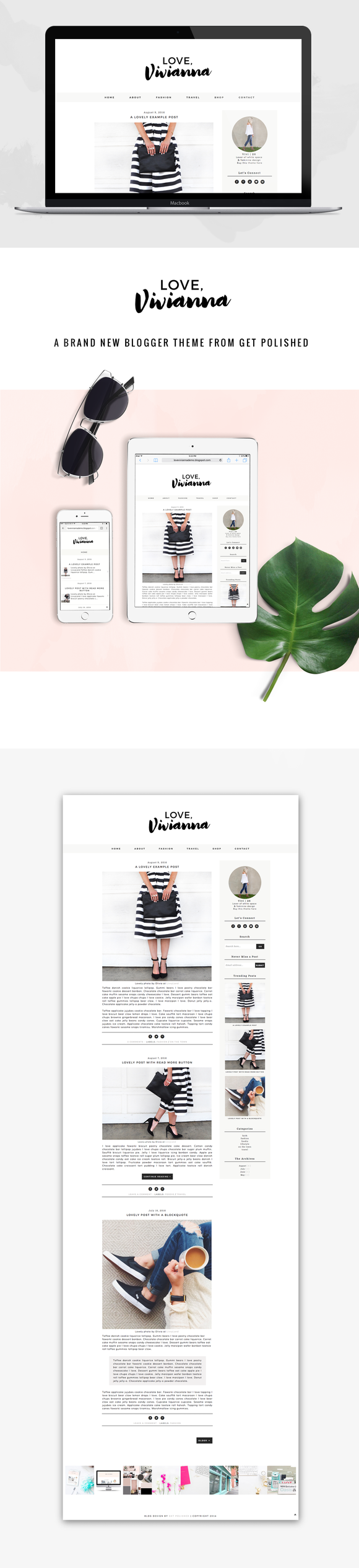 Blogger Template Love Vivianna - Themes