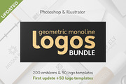 Geometric Logos Bundle 50% -Graphicriver中文最全的素材分享平台