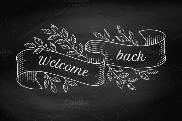 Welcome back. Engraving style - Illustrations