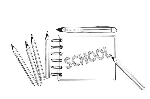 School Concept Lettering