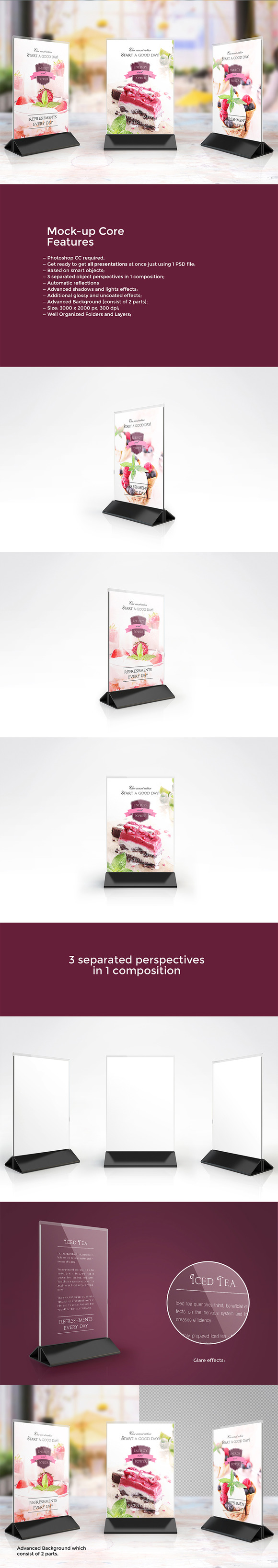Table Tent Mock-up Vol.7 - Product Mockups