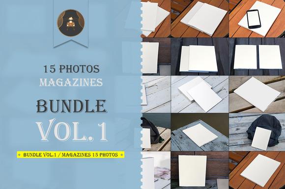 Bundle vol.2 / Magazines 15 photos - Product Mockups