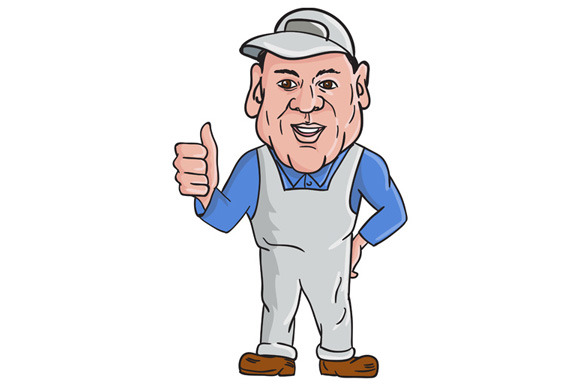 Oven Cleaner Technician Thumbs Up