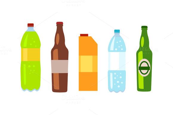 Set Of Drinks In Bottles
