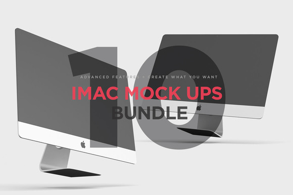 iMac Mock Ups Bundle - Product Mockups