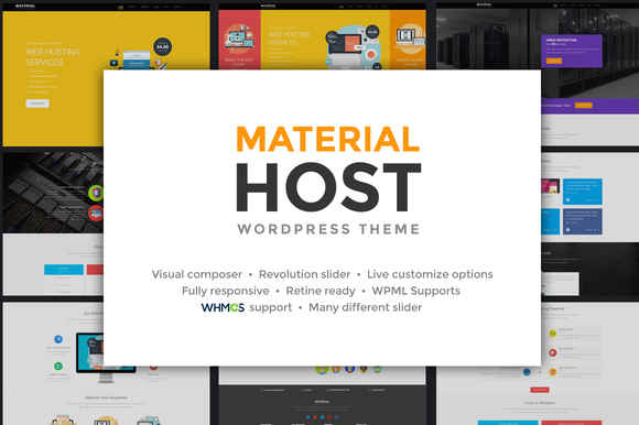 Host Material - Hosting WP Theme - Business