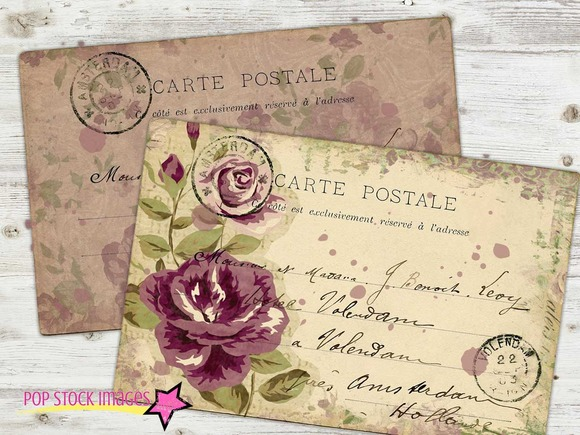 Floral Postcards Printable PDF