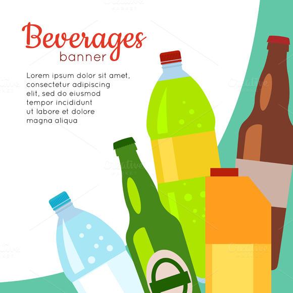 Set Of Drinks In Bottles§Ю